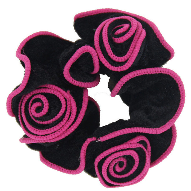 16PCs Popular Women Ladies Gold Velvet Flower Hair Scrunchies ...