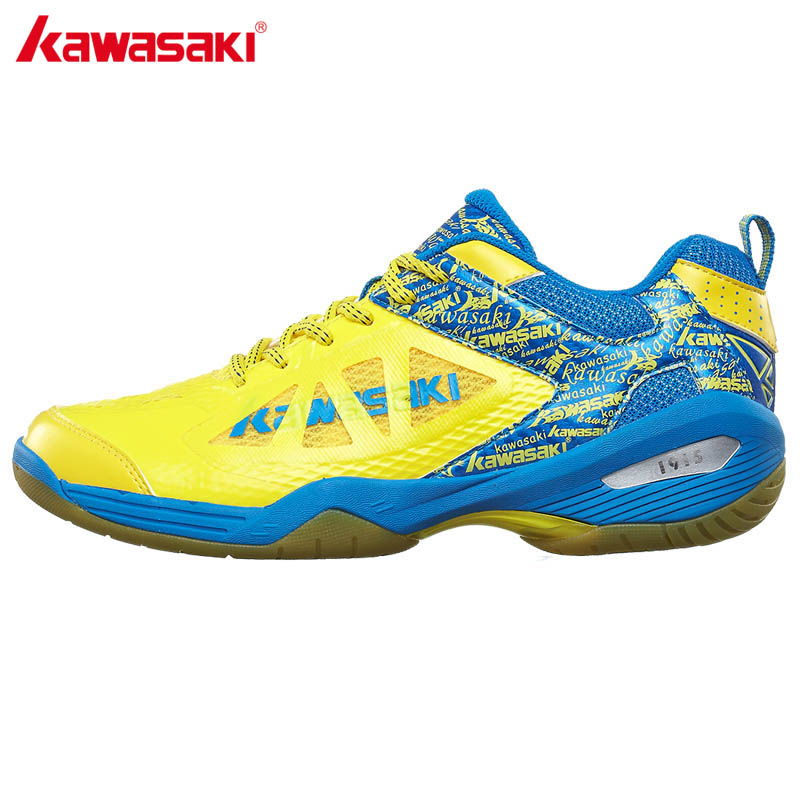 Original KAWASAKI Badminton Shoes for Men Women Rubber Bottom Breathable Anti-Slippery Sneaker Sports Shoe K-337 338 professional brand kawasaki badminton shoes 2017 sport sneakers for men women anti slippery pvc floor sports shoe k 065 k 066