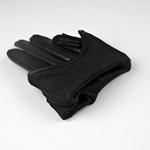 Image 5 - כפפות מסך מגע כפפות נשים סגנון קצר רוכסן ציצית מיובאת נאד עור אמיתי אופנה נשית נהיגה כפפות TB08
