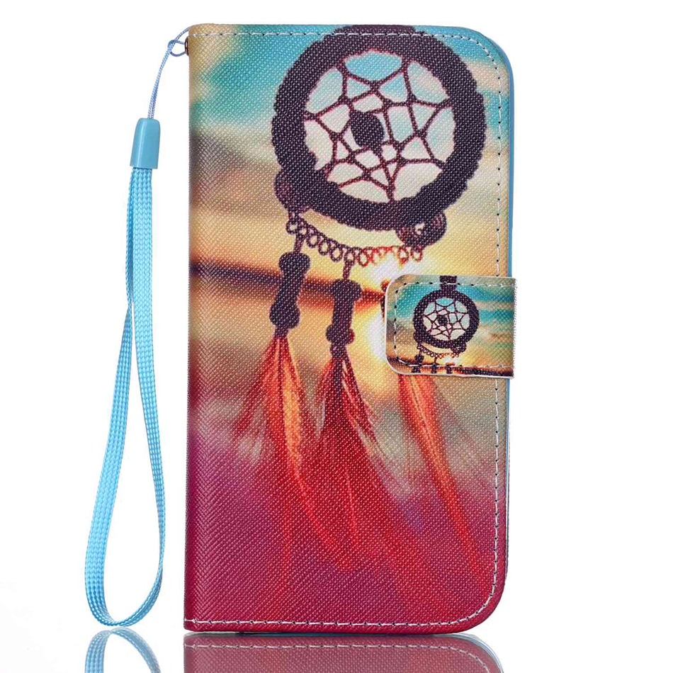 Flower Owl Pattern Wallet Flip Apple Iphone 4 4S 5 5S SE 5C I6 6 6S 7 Plus 8Plus Cover Fundas B21
