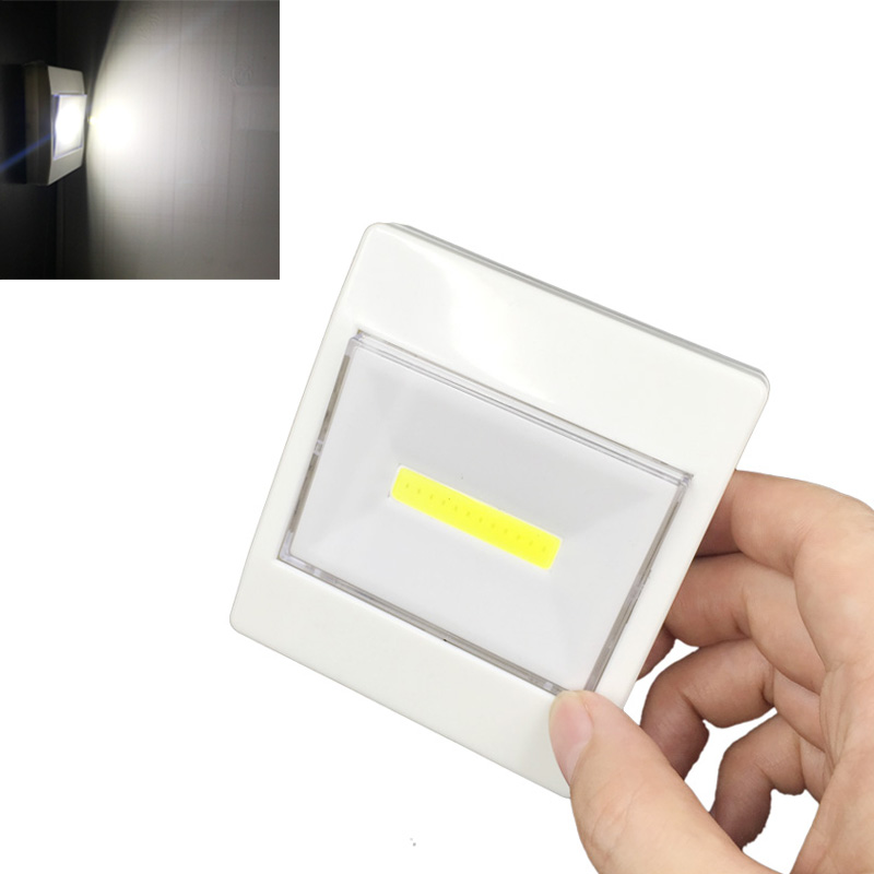 Portable LED Wall Night Lights Touch Sensor Push /Switch Battery Powered 3LED Wireless Lamp For Pathway Stairway Closet Garage