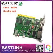 640*2048 linsn karta kontrolera led rgb pikseli karta kontrolna ts802 ts802d dla p5 p6 p8 p10 p12 p16 zewnątrz kolorowy doprowadziły ścianę wideo