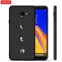 JURCHEN Silicone Soft Case For Samsung Galaxy J4 Core Case Cartoon Cute Black Cover For Samsung Galaxy J4 Core 2018 Phone Case