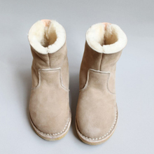 Millffy brand australia imports fur wool leather handmade sewing snow boots cotton boots fur boots