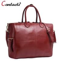 Contact S Genuine Leather Women Bags Female Shoulder Bag Luxury Handbags Women Bags Designer Leather Handbag