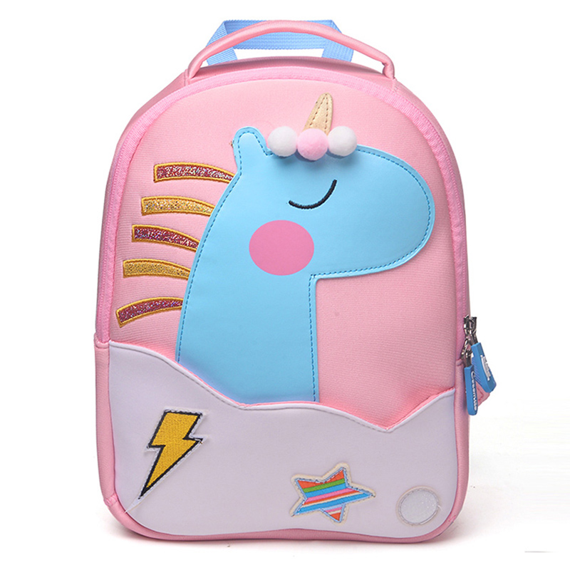 5279e15a0bb1 2018 New Fashion Unicorn School Bags For Girls Boy Cute Animals Design  Children s Backpack Student Kids Bag Gift Mochila Escolar