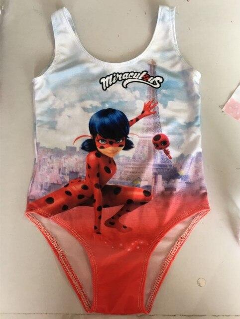81b5709de2e9 2017 Wonderful Ladybug Girls Swimsuit Cute Toddler Cartoon Character ...