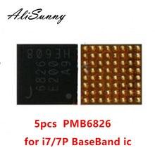 AliSunny 5 個 PMB6826 6826 iphone 7 7 プラスベースバンド PMIC 電源 ic チップインテル BBPMU_RF 交換部品