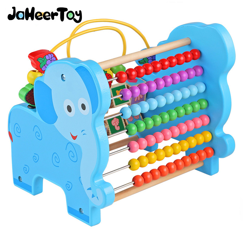 JaheerToy Baby Toys Figure Building Blocks Lion and Elephant Animal Pattern Funny Educational Wooden Toys Montessori Kids baby toys montessori wooden geometric sorting board blocks kids educational toys building blocks child gift