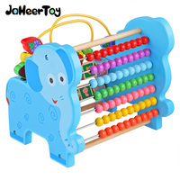 JaheerToy Baby Toys Figure Building Blocks Lion and Elephant Animal Pattern Funny Educational Wooden Toys Montessori Kids