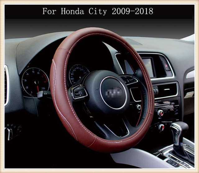 REVERSE MOUNTAIN New Car Accessories Automobiles Steering Wheel Cover  Suitable For Honda City 2009 2018