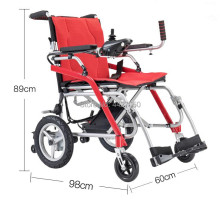 Hot selling folding portable electric mobility aid wheelchair controller for disabled with wheelchair manual