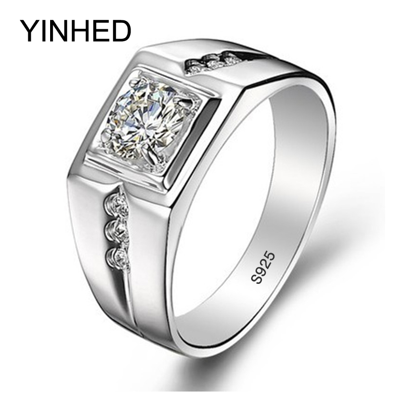 90 off real 925 sterling silver rings for man hot sale men wedding jewelry ring 075 carat cz diamant engagement ring zr29 - Overstock Wedding Rings