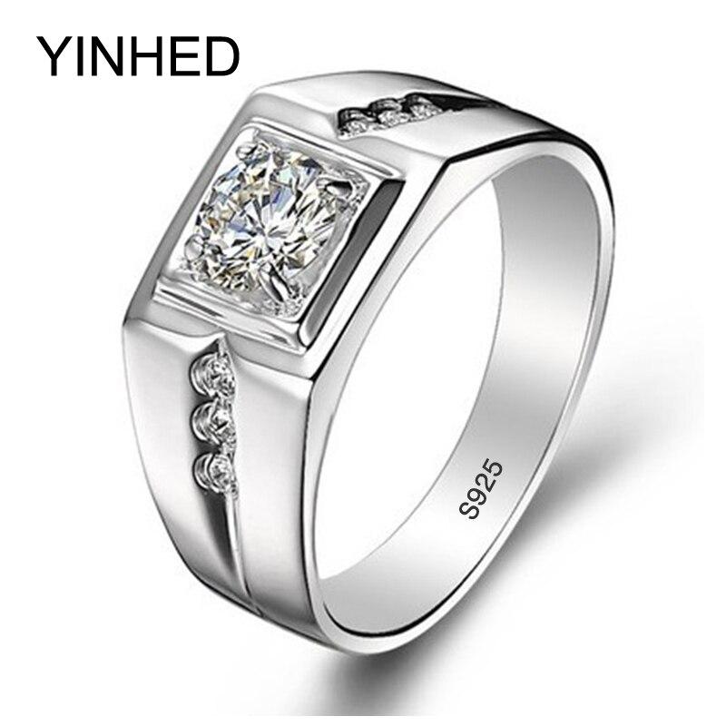 real 925 sterling silver rings for man hot sale men wedding - Wedding Ring Men