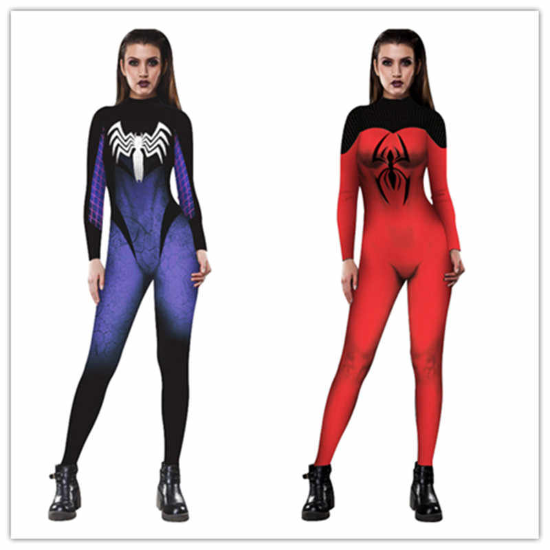 f4da5b70f0 Spiderman Jumpsuit Catsuit Character Sexy Cosplay Costumes Spider-Man Women  Bodysuit Fancy Dress for Halloween