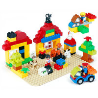 Original Package Big Size Building Blocks Great Gift Toy For Children With Action Figures Compatible Lepined Duploed Bricks