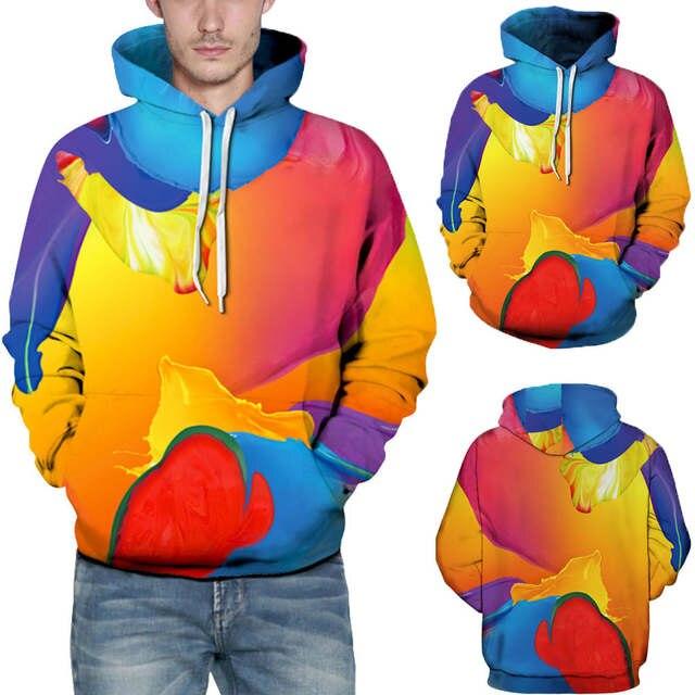 Christmas 3D Print Hoodie,SFE Mens Santa Autumn Winter Long Sleeve Pullover Hooded Sweatershirt Top Blouse