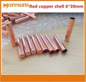 10 шт./лот, корпус из красной меди 6*30 мм для датчика температуры NTC, термопары, RTD,PT100,DS18B20