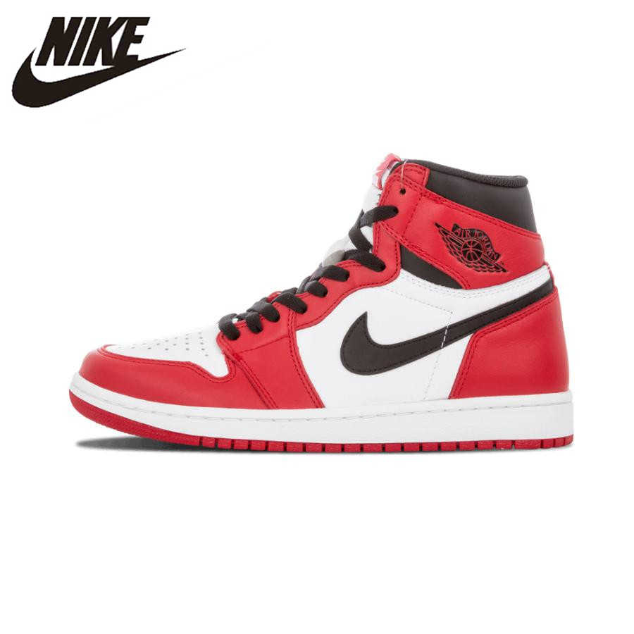 Nike Air Jordan 1 Retro High OG Chicago Breathable Men s Basketball Shoes  Sports Sneakers Trainers 575441 231aa2c6e