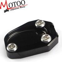 Motoo-Бесплатная доставка ЧПУ Алюминий мотоциклетные подножка сбоку Pad Увеличение плиты удлинитель подставки для KAWASAKI Z1000