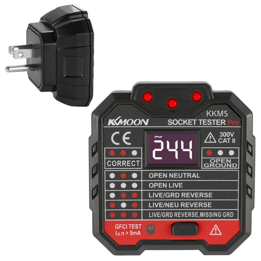 US Plug 5 MA Voltage Test Socket Detector Socket Testers Circuit Polarity Voltage Tester Wall Plug Breaker Finder RCD Test