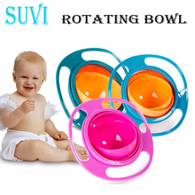 360 Rotate Toddlers Plate for Children Tableware Kids Soup Rotating Bowl Spill Feeding Snack Cup Small Plates Bowls Plastic 2018