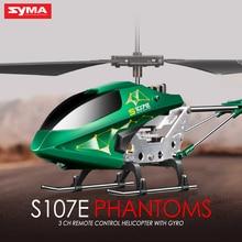 Livraison Gratuite Nouvelle Marque SYMA S107E Électrique 3CH Gyro RC Quadcopter Coloré Clignotant Lumières Drones Mini Hélicoptère Jouets