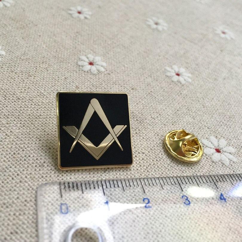 Ev ve Bahçe'ten İğneler ve Rozetler'de 100 adet toptan özel masonik ücretsiz masonlar yaka pin metal rozeti zanaat hatıra lodge masonluk kare broş ve iğneler'da  Grup 2