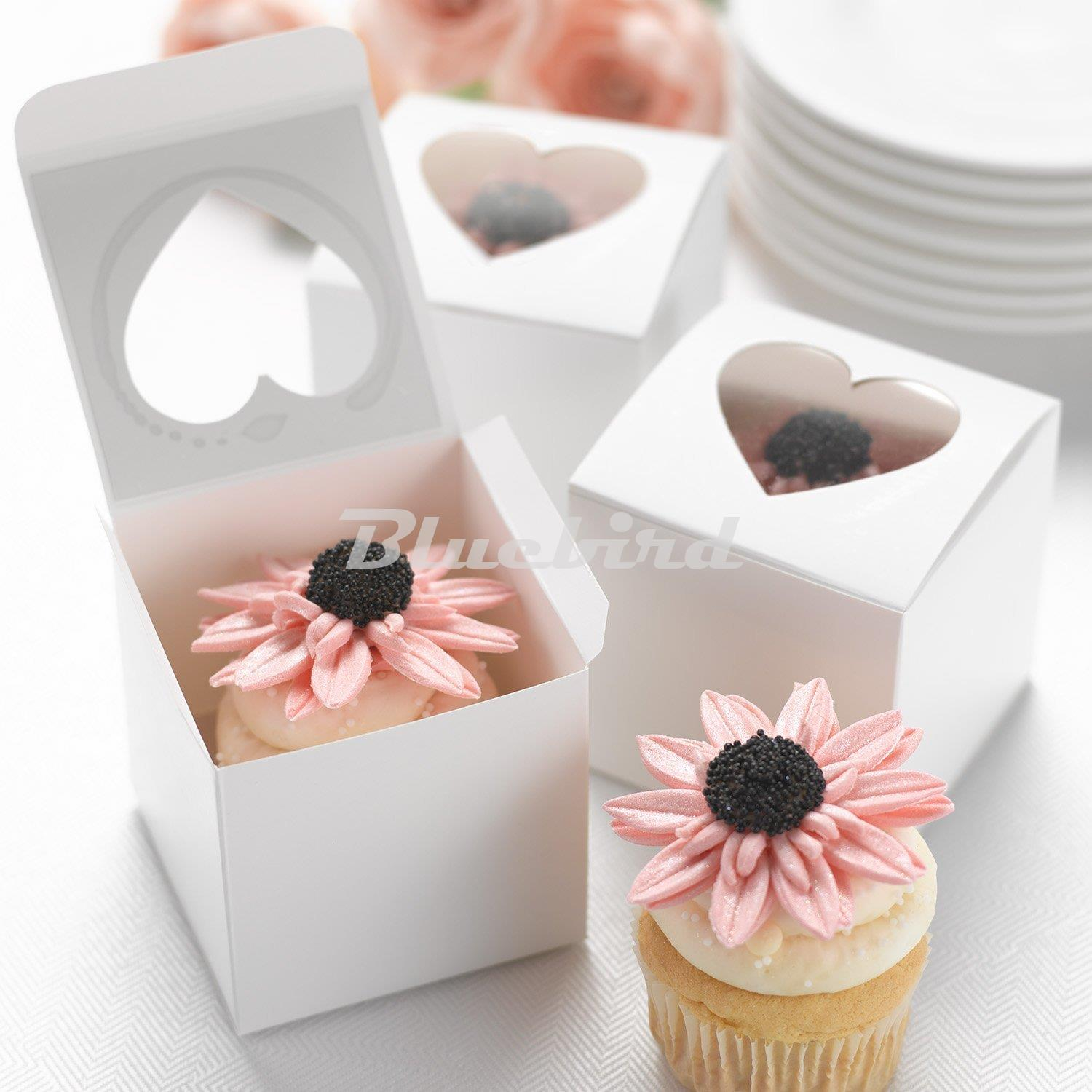 ᗔ6*6*6cm Single Cupcake Box Packaging White Paper Cake Boxes And ...