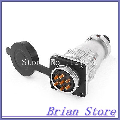 AC 400V 25A 7Pin Electric Deck Aviation Connector Adapter Plug Y28-7  цены