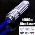 Mini Portable Blue Laser Light High Power Laser Pointer Blue Beam Pen 5 Head+Case+Battery+Charger+Goggles 5MW Outdoor Light kits