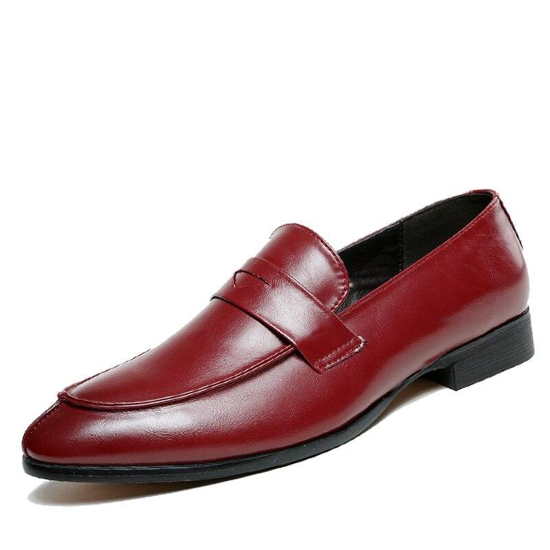 Neue Modemarke Formalen Männer Schuhe Oxford Schuhe Für Männer Wohnungen Leder Mokassin Wohnungen Männer Schuhe Formale Schuhe Müßiggänger Zapatos Profitieren Sie Klein Schuhe