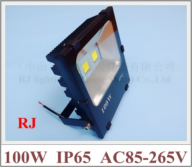 new radiator LED flood light spot lamp 100W (2*50W) COB AC85-265V 10000lm IP65 CE Toughened glass aluminum LED floodlight