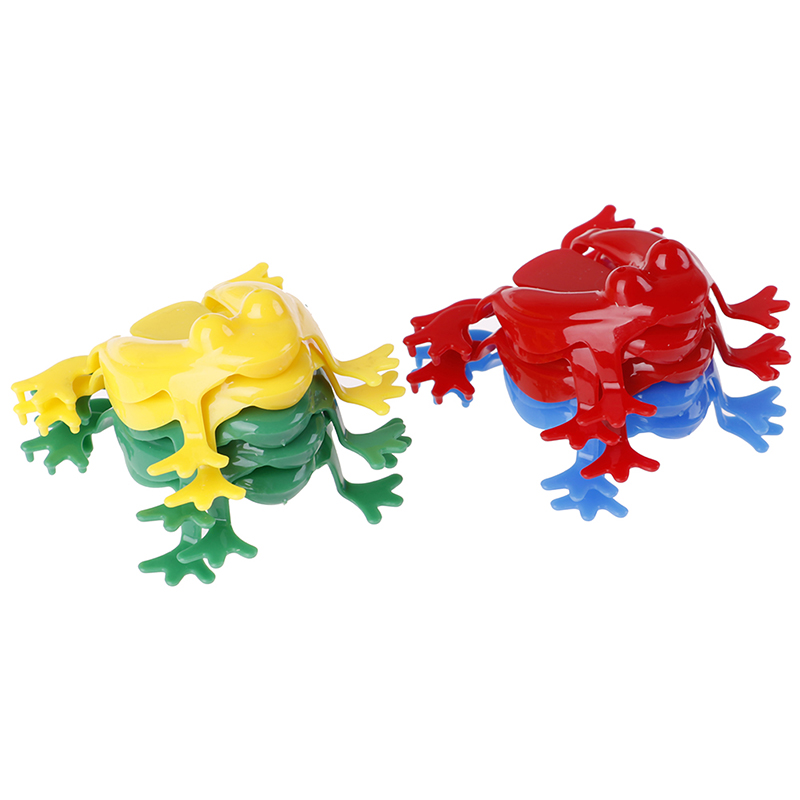 Animal-Toy Action-Figure Frogs Family-Game Jumping Toys Abs-Plastic Educational Kids