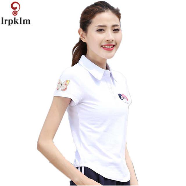 59df4b0648 placeholder Fashion Womens Polo Shirts Short Sleeve Women Polo Shirts  Summer Plus Size 6XL White Blue Polo