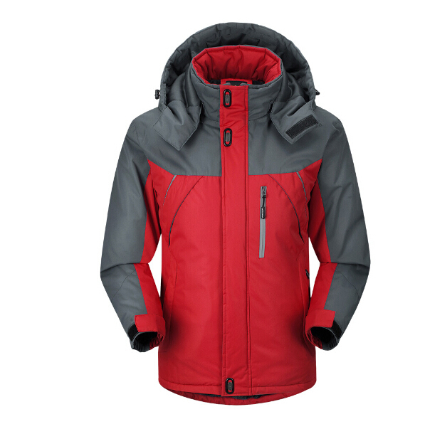 -30 C FIT Plus Thick Velvet Parka Coat Warm Plus Size 5XL 2016 Winter Jacket Men Waterproof Windproof Chaquetas Hombre