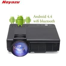 Noyazu 1800 Lumen Mini LED Projektor TV Heimkino Unterstützung Full HD 1080p Video Media Player Hdmi LCD 3D Beamer