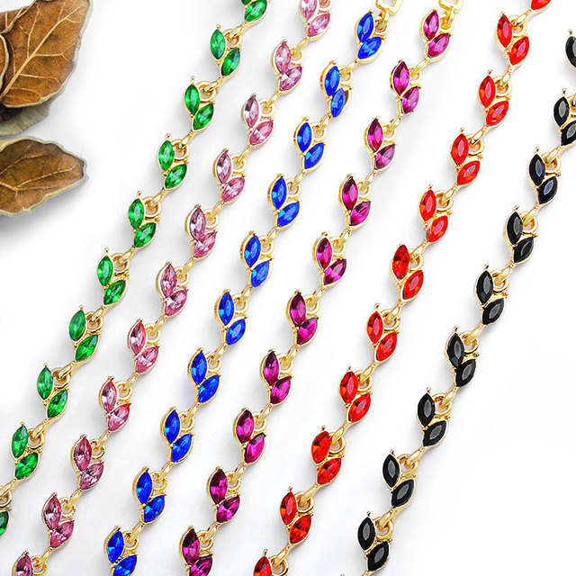 New 5 Colors Beautiful Bracelet For Women Colorful Austrian Crystal Fashion Heart Chain 3