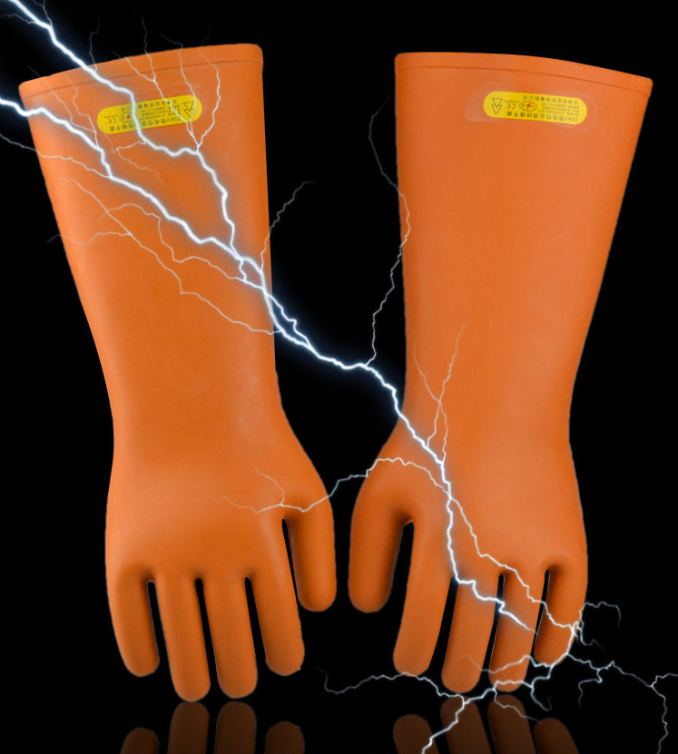 Купить с кэшбэком Free shipping hot-selling 40cm lengthen 25KV insulating latex work gloves designed by power line transmission line work protect