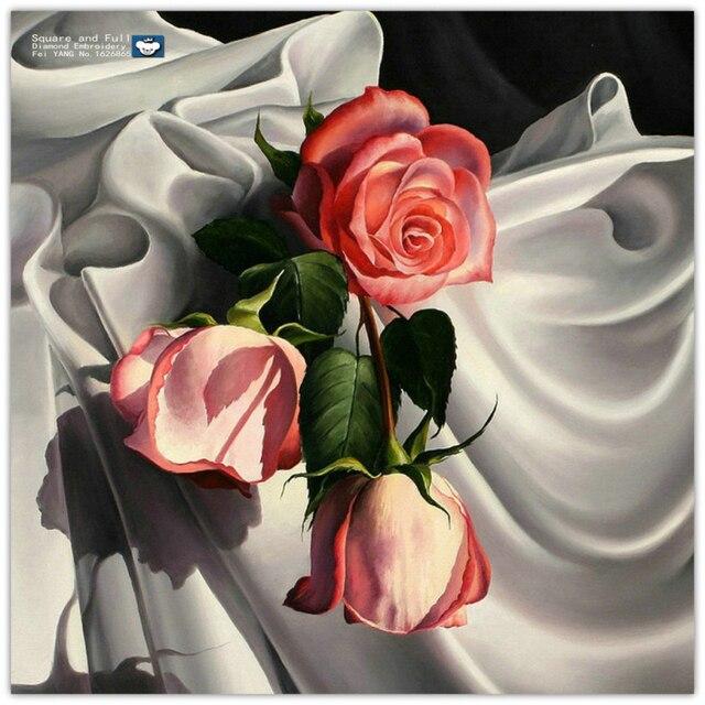 Diamante lentejuelas bordado nueva rosa roja patrón de rhinestones ...