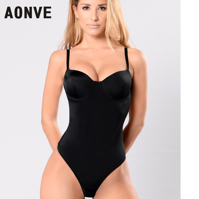 0a0f601806 AONVE New Sexy Bodysuit Deep V Neck Backless Push Up Bra Slimming Body  Shaper Underwear Bodysuits