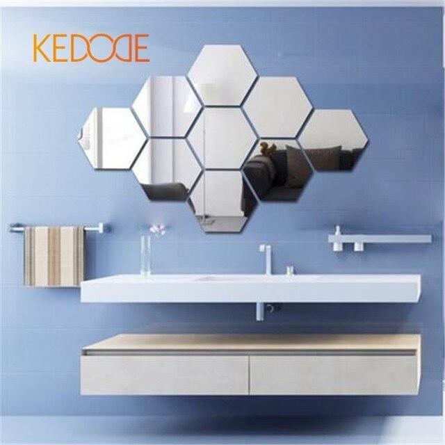 3D stereo spiegel aufkleber kreative polygon schlafzimmer wohnzimmer ...