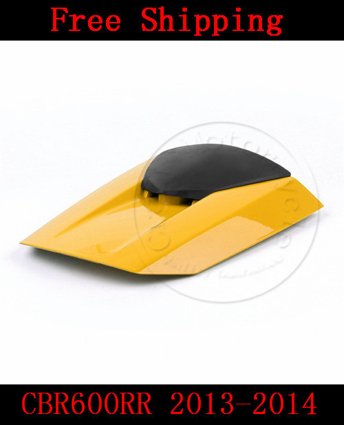 цены  For Honda CBR600RR 2013-2014 motorbike seat cover CBR 600 RR Motorcycle Yellow fairing rear sear cowl cover