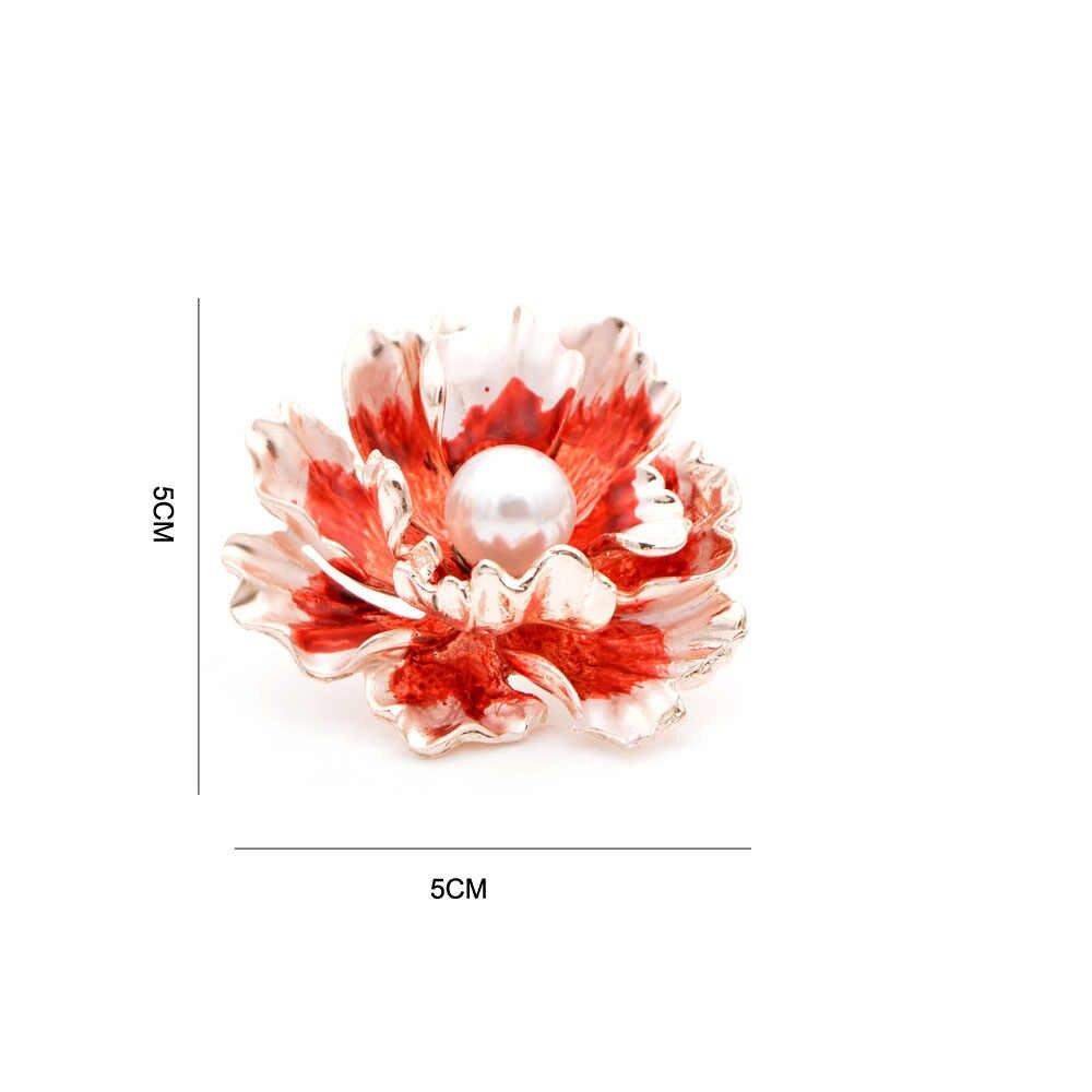 Cindy Xiang 7 Warna Tersedia Enamel Peony Bros untuk Wanita Besar Pernikahan Bunga Pin Bros Baru Desain Mantel Perhiasan Hadiah
