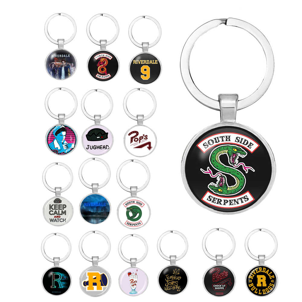 2019 New Fashion Riverdale keychain Glass Cabochon key Chains Couple Necklaces Pendants Women Men Jewelry Avengers thanos