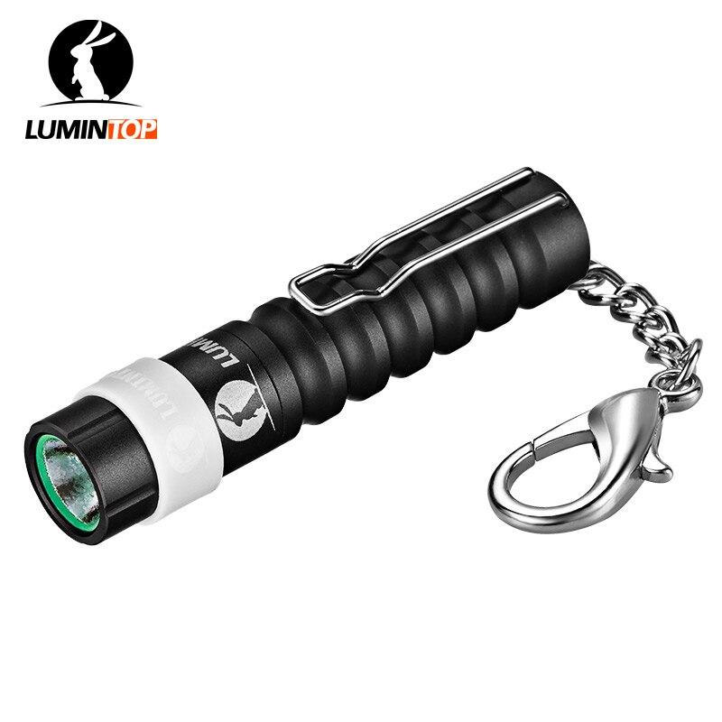 LUMINTOP Black Mini Worm AAA 110 Lumens font b Keychain b font Flashlight with clip Cree