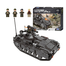 лучшая цена Xingbao Military war Tank model building blocks Army Armoured Vehicle figure bricks Compatible With  toys children gift
