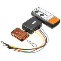 12V 3Pcs 75 Feet Winch Auto Electric Wireless Key Fob Keychain Remote Controller Handset Kit For