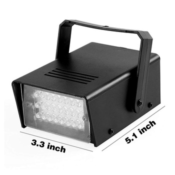 24LEDs Led Stage Lighting Disco Club Stage Light  DJ Strobe Light Flash Club Disco Bar Stage Effect Party Christmas Laser Lights high quality mini 36x led white flash lighting strobe dj strobe light stage led flash free shipping