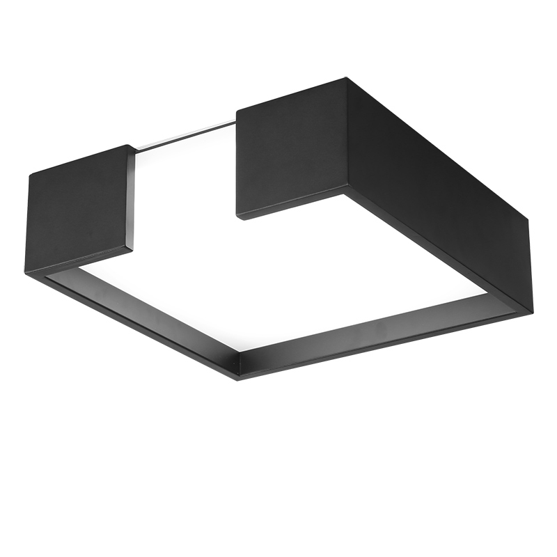 Modern metal LED dimmable white black square lamp for bedroom corridor living room ceiling lamp modern metal led dimmable white black square lamp for bedroom corridor living room ceiling lamp